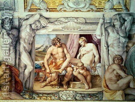 Venus and Anchises by Annibale Carracci - Reproduction Oil Painting