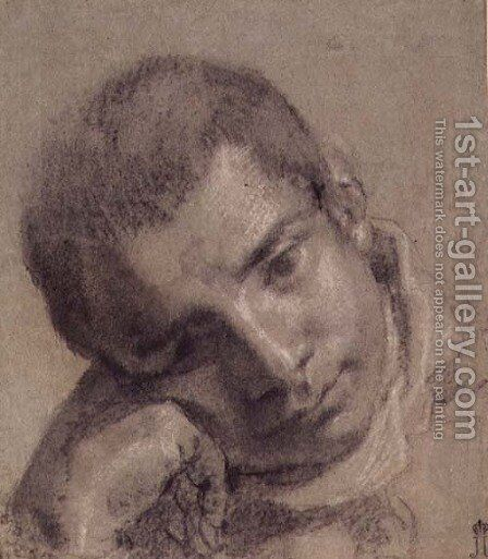 Head of a Youth by Annibale Carracci - Reproduction Oil Painting