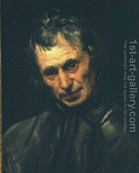 Head of an old man by Annibale Carracci - Reproduction Oil Painting