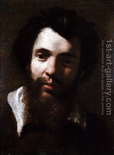 Portrait of Agostino Carracci, brother of the artist by Annibale Carracci - Reproduction Oil Painting