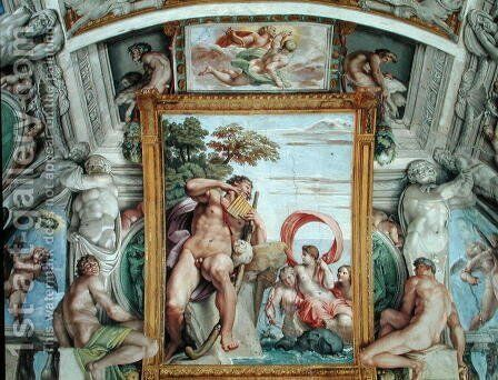The 'Galleria Carracci' (Carracci Hall) detail of Polyphemus and Galatea, 1597-1604 by Annibale Carracci - Reproduction Oil Painting