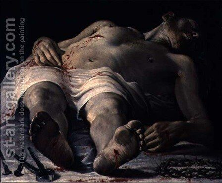The Dead Christ by Annibale Carracci - Reproduction Oil Painting