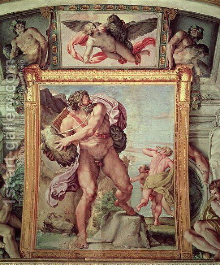 Polyphemus Attacking Acis and Galatea, 1597-1604 (detail) by Annibale Carracci - Reproduction Oil Painting