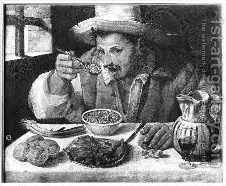 The Bean Eater, c.1583-84 by Annibale Carracci - Reproduction Oil Painting