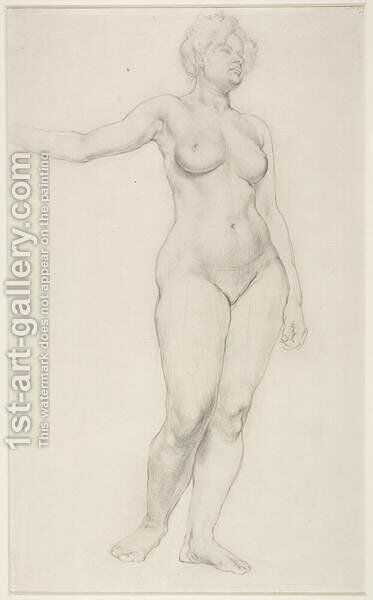 Standing Female Nude, 1914 by Dora Carrington - Reproduction Oil Painting