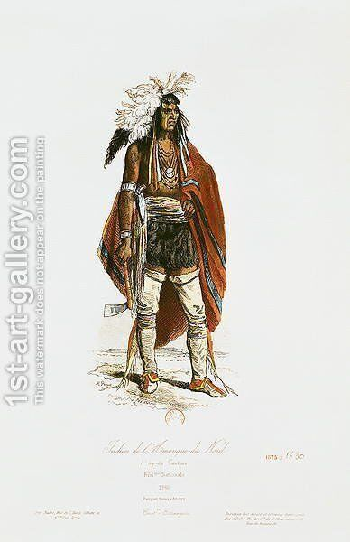 North American Indian, from 'Modes et Costumes Historiques', 1862 by Cartias - Reproduction Oil Painting
