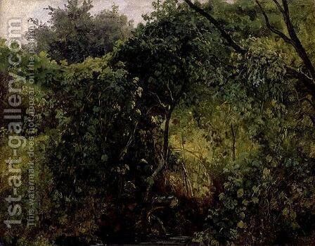 Bushes at Pillnitz, c.1818-28 by Carl Gustav Carus - Reproduction Oil Painting