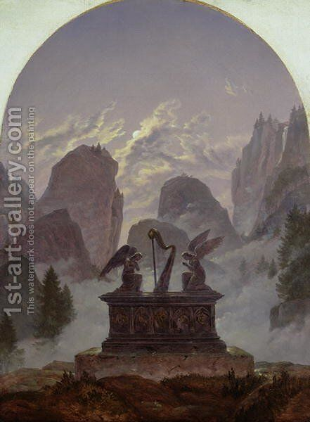 Goethe Monument by Carl Gustav Carus - Reproduction Oil Painting