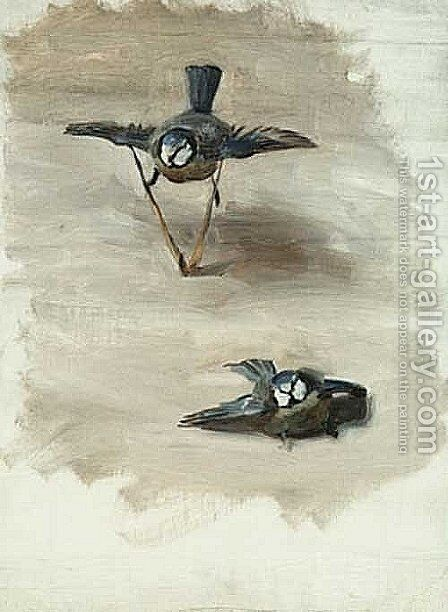 Study of a Dead Bird by Sargent - Reproduction Oil Painting