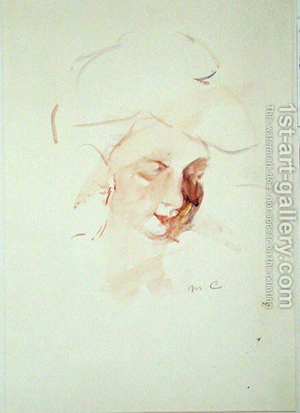 Portrait of a woman 2 by Mary Cassatt - Reproduction Oil Painting