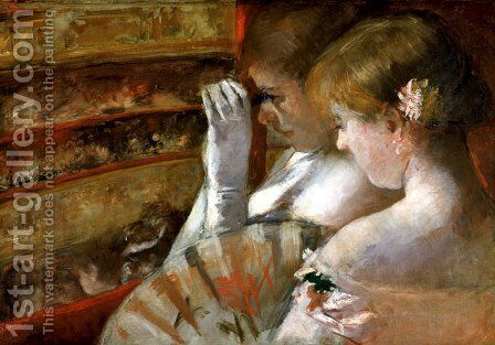 In the Box by Mary Cassatt - Reproduction Oil Painting