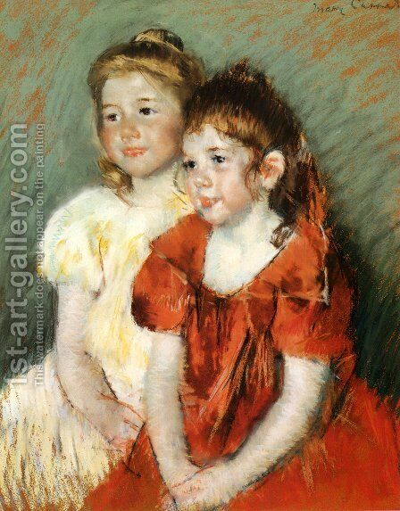 Young Girls, c.1900 by Mary Cassatt - Reproduction Oil Painting
