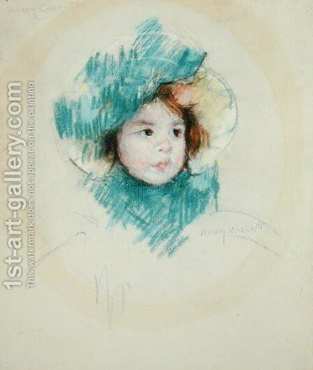 Head of Margot, c.1902 by Mary Cassatt - Reproduction Oil Painting