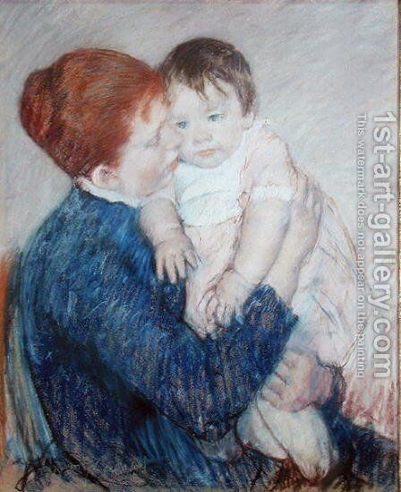 Agatha and Her Child, 1891 by Mary Cassatt - Reproduction Oil Painting