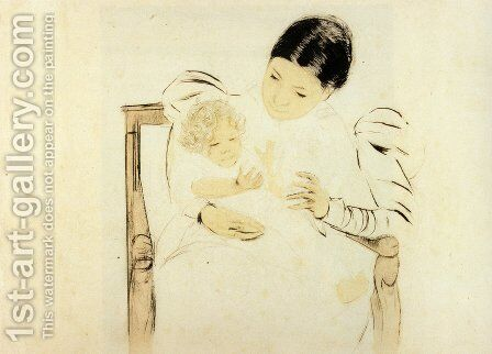 The Barefooted Child, c.1896 by Mary Cassatt - Reproduction Oil Painting