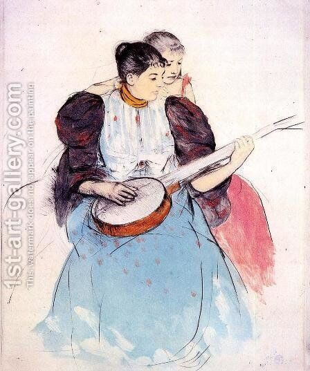 The Banjo Lesson, 1893 by Mary Cassatt - Reproduction Oil Painting