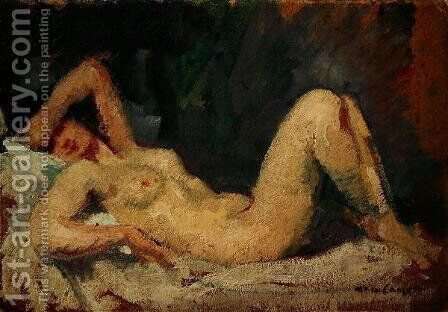 Reclining Nude by Mary Cassatt - Reproduction Oil Painting