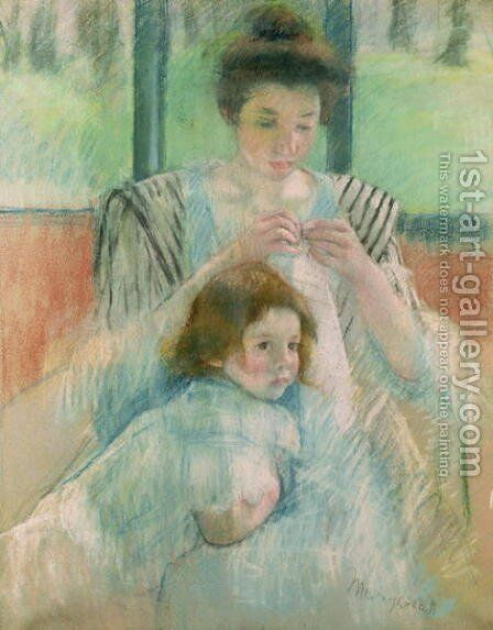 Mother and child 2 by Mary Cassatt - Reproduction Oil Painting