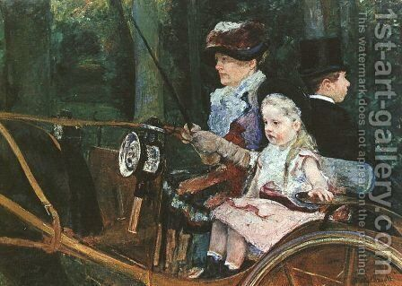 A woman and child in the driving seat, 1881 by Mary Cassatt - Reproduction Oil Painting