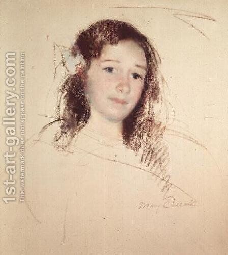 Head of Adele by Mary Cassatt - Reproduction Oil Painting