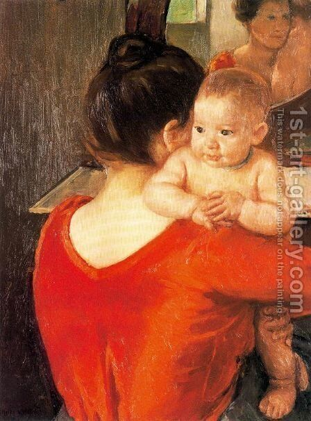 Mother and Child, 1900 by Mary Cassatt - Reproduction Oil Painting