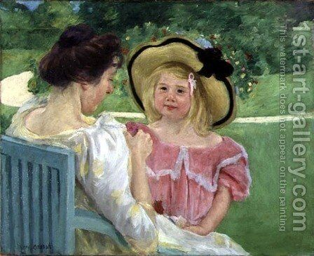In the Garden, 1904 by Mary Cassatt - Reproduction Oil Painting