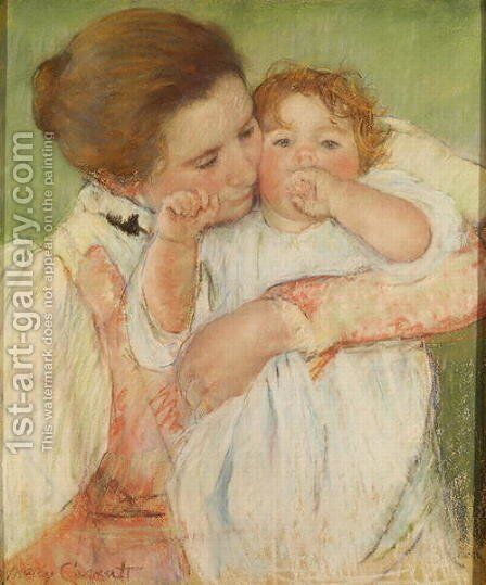 Mother and Child, 1897 by Mary Cassatt - Reproduction Oil Painting