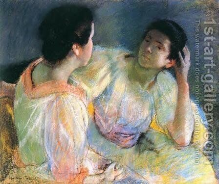 The Conversation, c.1914 by Mary Cassatt - Reproduction Oil Painting