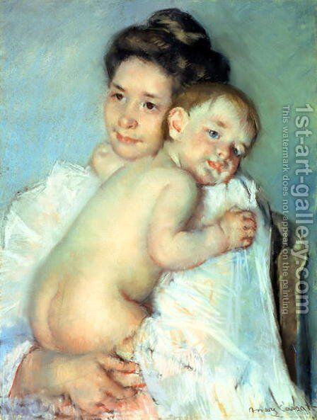 The Young Mother by Mary Cassatt - Reproduction Oil Painting