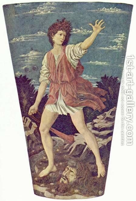 David with the Head of Goliath, c.1450-55 by Andrea Del Castagno - Reproduction Oil Painting