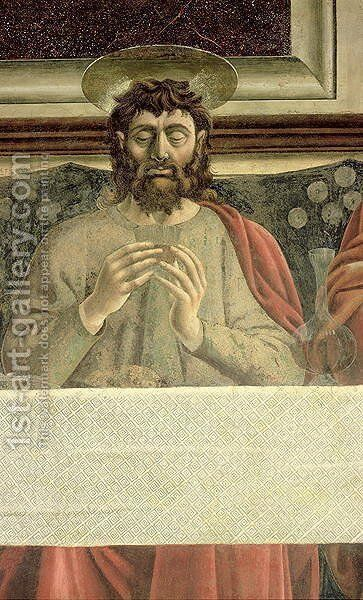 The Last Supper, detail of St. James the Greater, 1447 by Andrea Del Castagno - Reproduction Oil Painting