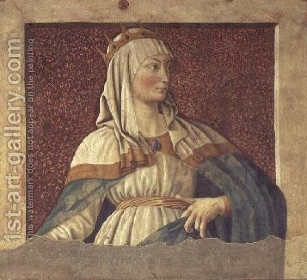 Queen Esther, from the Villa Carducci series of famous men and women, c.1450 by Andrea Del Castagno - Reproduction Oil Painting
