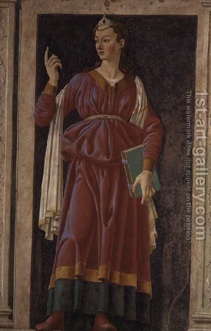 The Cuman Sibyl, from the Villa Carducci series of famous men and women, c.1450 by Andrea Del Castagno - Reproduction Oil Painting
