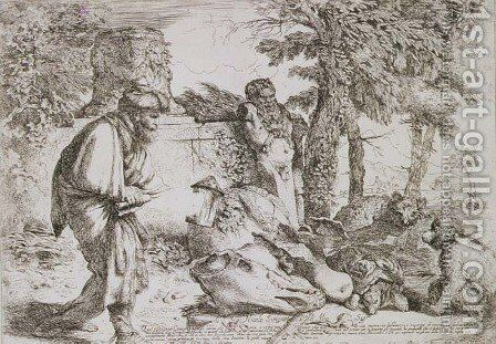 Diogenes Searching for an Honest Man by Giovanni Benedetto Castiglione - Reproduction Oil Painting