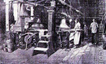 Woollen Mill, from the 'Catalan Illustrated', 15 June 1888 by Anonymous Artist - Reproduction Oil Painting