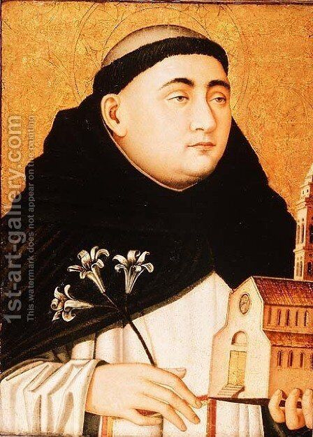Bust of Saint Dominic, c.1450 by Anonymous Artist - Reproduction Oil Painting