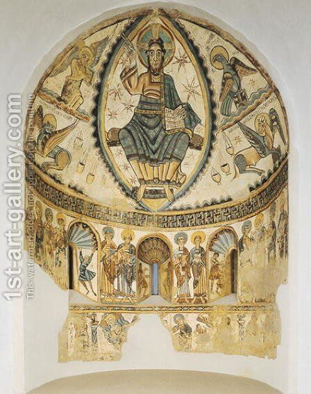 Christ in Majesty with Symbols of the Four Evangelists, 1150-1200 by Anonymous Artist - Reproduction Oil Painting