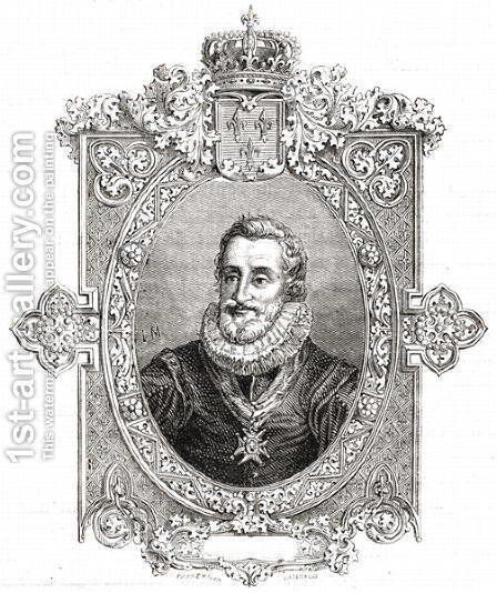 Henri IV,  from 'Histoire de la Revolution Francaise' by Hercule Catenacci - Reproduction Oil Painting