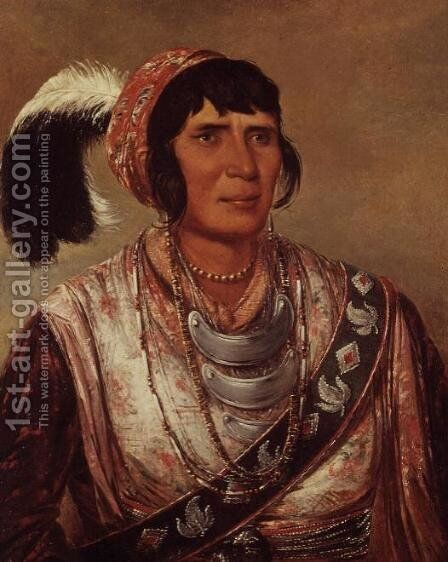 Portrait of Osceola (1804-38) by George Catlin - Reproduction Oil Painting