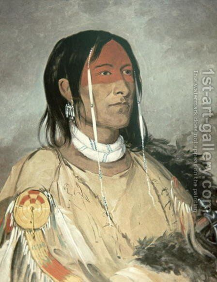 Broken Arm, 1831 by George Catlin - Reproduction Oil Painting