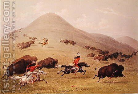The Buffalo Hunt, c.1832 by George Catlin - Reproduction Oil Painting
