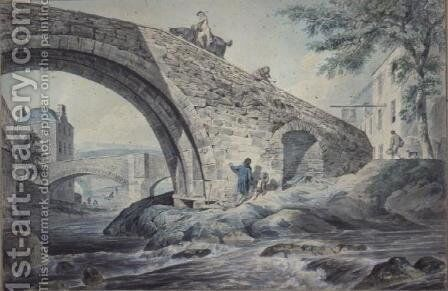 View of the Bridges at Hawick by Charles, I Catton - Reproduction Oil Painting