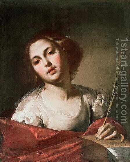 St. Catherine of Alexandria, late 1640s by Bernardo Cavallino - Reproduction Oil Painting