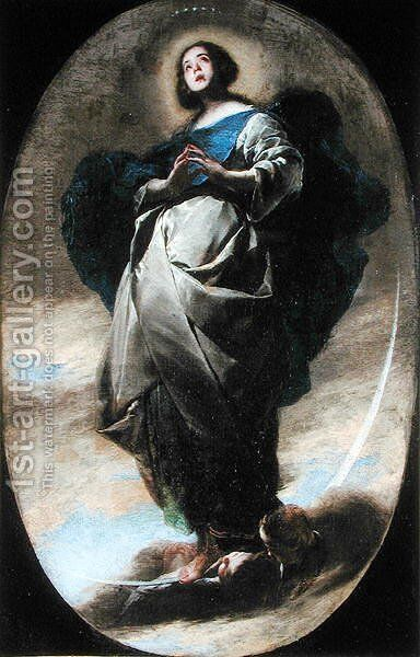The Immaculate Conception by Bernardo Cavallino - Reproduction Oil Painting