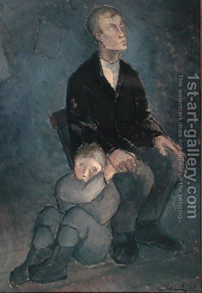 Blind, 1926 by Alvar Cawen - Reproduction Oil Painting