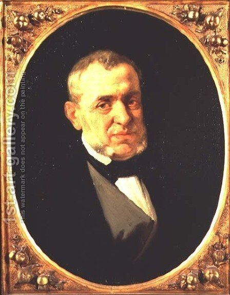 Portrait of Giuseppe Saverio Mercadante (1795-1870) Italian composer by Andrea Cefaly - Reproduction Oil Painting