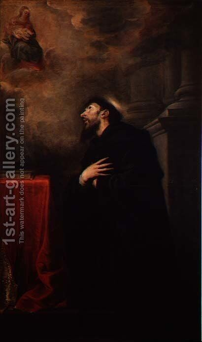 St. Augustine, 1663 by Mateo the Younger Cerezo - Reproduction Oil Painting