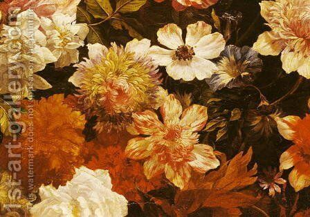 Detail of Flowers by Michelangelo Cerquozzi - Reproduction Oil Painting
