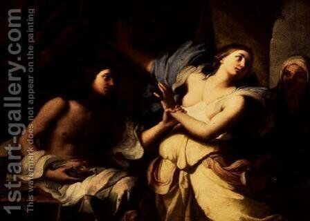 Joseph with Potiphar's Wife by Giovanni Domenico Cerrini - Reproduction Oil Painting