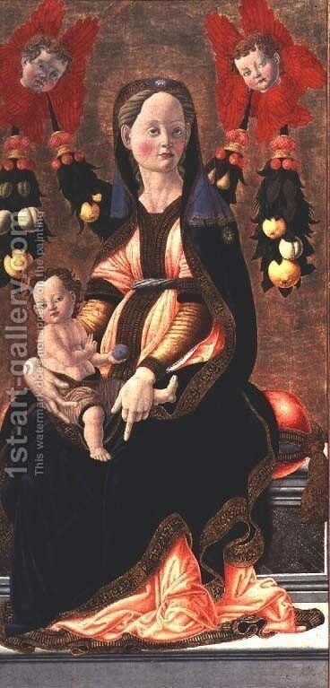 Madonna and Child, c.1450 by Giovanni di Francesco del Cervelliera - Reproduction Oil Painting